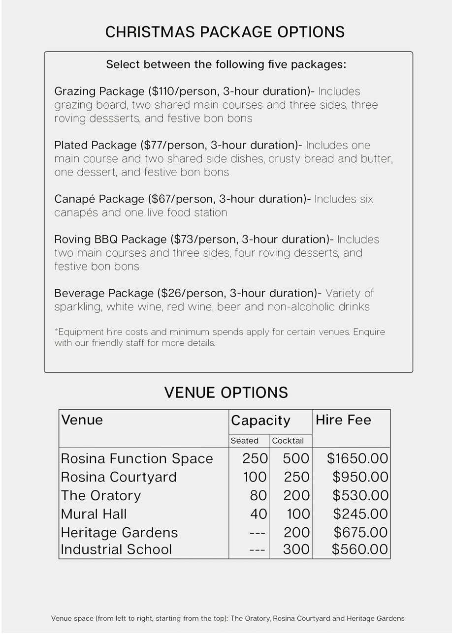 Bursaria 2019 packages side 1