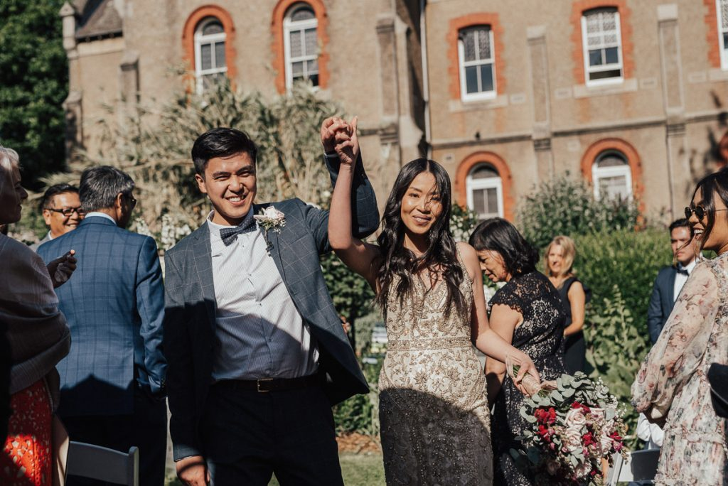 Bride and Groom at Abbotsford Convent Wedding Ceremony